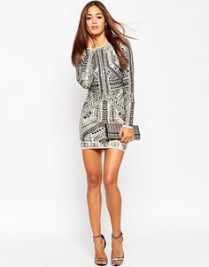Image 4 of ASOS Armour Mesh Mini Body-Conscious Dress