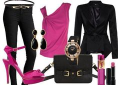 Pink & Black Outfit