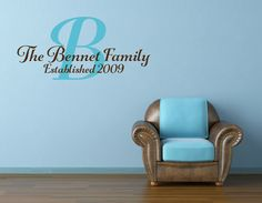 Family Wall Decal Family Name Decal Last Name Est by NewYorkVinyl, $13.00