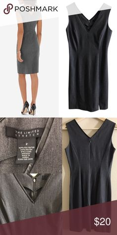 {The Limited} V-Neck Sheath Dress The Limited V Neck Sheath Dress Side slit; V-back zip Size 2 Good condition (no stains or major defects, but as with any used item, minor signs of wear should be expected) Belt not included The Limited Dresses