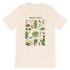 This Sigma Delta Tau Cacti t-shirt is everything you've dreamed of and more. Sigma Tau, Kappa Kappa Gamma, Kappa Alpha Theta, Phi Mu, Delta Zeta Shirts, Chi Omega, Fabric Weights, Everything, Cactus