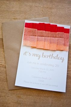 ruffled crepe paper invitations