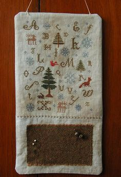 counted cross stitch pattern  Falling Snow by thecottageneedle, $10.00