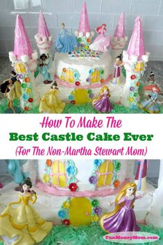 diy birthday cake for girls easy Easy Castle Cake - Need a Disney princess castle cake for your little girls birthday party This birthday cake is perfect for your little girls birthday party! Disney Princess Birthday Cakes, Castle Birthday Cakes, Disney Princess Castle, Cool Birthday Cakes, Birthday Cake Girls, Princess Party, Birthday Diy, Easy Princess Cake, Husband Birthday