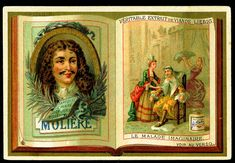 """Classic French Authors """"Molière""""   Liebig Beef Extract """"Classic French Authors"""" Belgian issue, 1887. Molière, 1622-1673"""