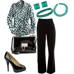 green leopard by rajma-dee-johnson on Polyvore featuring polyvore fashion style Lafayette 148 New York Chinese Laundry Dolce&Gabbana Alexis Bittar Dinosaur Designs Pearlz Ocean
