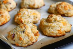 Confectionary Tales of a Bakeaholic: Cheddar & Bacon Buttermilk Drop Biscuits