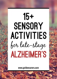 15 Sensory Activities for Late Stage Alzheimer's: Dealing with the effects of Alzheimer's Disease is a long and challenging process for the everyone involved. It is especially difficult when the late stage of the illness is reached. Activities For Dementia Patients, Stages Of Dementia, Alzheimers Activities, Elderly Activities, Senior Activities, Activities For Adults, Alzheimer's And Dementia, Art Therapy Activities, Dementia Care