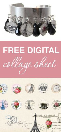 Download, print, create -Vintage Parisian sheet are free for personal projects and small commerical use | beadingtutorials.com.au