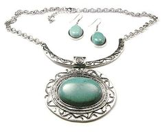 Turquoise Fashion Necklace and Earrings Set $15.00