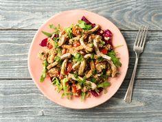 Tabouleh met varkenshaasreepjes, rucola en kruidendressing  Recept | HelloFresh