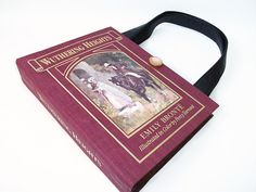 Book Purse Wuthering Heights Emily Bronte Handbag by retrograndma
