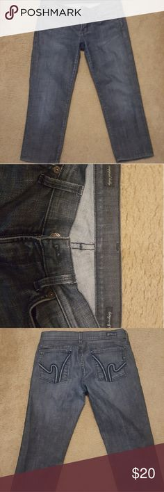 Citizens of humanity cropped Kelly Wimbledon #254 Cropped stretched capris size 28 Citizens Of Humanity Jeans Ankle & Cropped