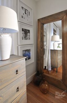 A simple and organic palette in a bedroom will give the illusion of an ample room. These white ceramic lamps in the form of rustic urns are from HomeGoods and they bring character into this bedroom. (#sponsored)
