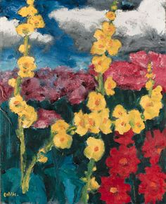 Small flower garden, Emil Nolde. German Expressionist Painter (1867 - 1956)