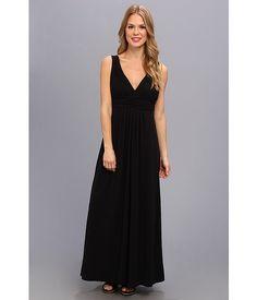 Mod-o-doc Cotton Modal Maxi Dress Black - 6pm.com