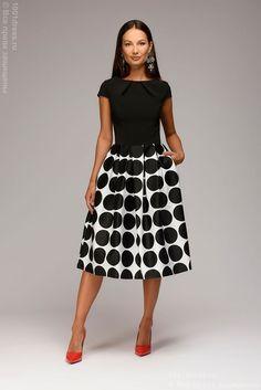 Платье черное длины миди 1001DREES