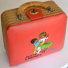 Vintage 1970s sewing box for children, SPAIN
