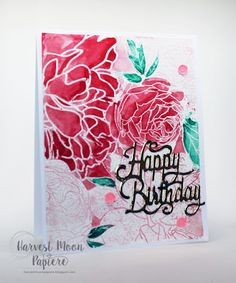 Harvest Moon Papiere: Watercolors and Foiling (Video)!