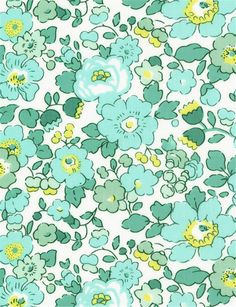 Liberty Blue Liberty Betsy Mint and Lemon color pattern print fabric Textures Patterns, Fabric Patterns, Flower Patterns, Color Patterns, Print Patterns, Motif Liberty, Liberty Art Fabrics, Liberty Print, Liberty Betsy