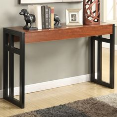 online shopping for Convenience Concepts Monterey Console Table, Black/Cherry from top store. See new offer for Convenience Concepts Monterey Console Table, Black/Cherry Pub Design, House Design, Sofa Tables, Console Tables, Dining Table, Living Room Furniture, Entryway Tables, Foyer, Cherry Finish