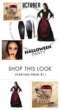 """Halloween party!"" by queensilvi ❤ liked on Polyvore featuring Costume"