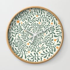 Swirly Wall Clock Clock, Plates, Ceramics, Tableware, Wall, Products, Watch, Licence Plates, Ceramica