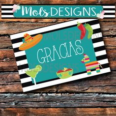 Instant Download Fiesta THANK You Muchas GRACIAS BURLAP Chalkboard Flat 1Sided 4x6 Baby Bridal Wedding Couples NAcho Average Shower Sprinkle
