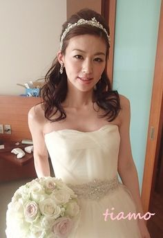 美人花嫁さまの素敵な3スタイル♡後編♡|大人可愛いブライダルヘアメイク『tiamo』の結婚カタログ
