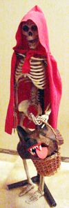 August 2009 Tutorial 1 - The Mad Lab - Little Red Riding Skeleton Halloween Fairy, Diy Halloween Costumes For Kids, Halloween Parties, Outdoor Halloween, Halloween Skeletons, Halloween Horror, Halloween 2017, Halloween Crafts, Halloween Ideas