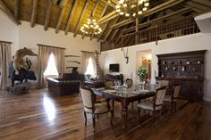 Gallery   Ibamba Private Game Reserve   Luxury Game Lodges   Eastern Cape   South Africa Game Reserve South Africa, Game Lodge, Private Games, Camps, Lodges, Dining Table, African, Luxury, Gallery