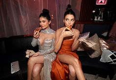 Models Kylie Jenner and Kendall Jenner pose during the Universal, NBC, Focus Features, E! Entertainment Golden Globes Afterparty Sponsored by Chrysler held at the Beverly Hilton Hotel on January 8, 2017