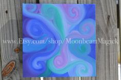 "Abstract Energy Painting ""Enchanted"" Original Oil on Canvas by Sapphire Moonbeam MoonbeamMagick on Etsy"