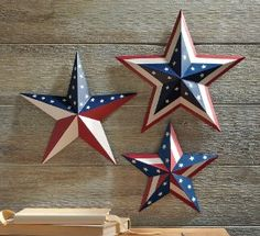 patriotic star decor metal