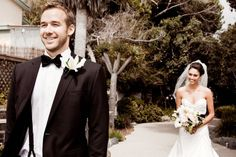 25 of the MOST AMAZING First Look Wedding Photos.. I like the corner one so you get both expressions