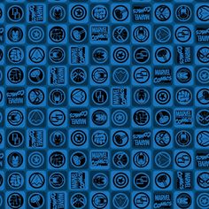 Marvel Comics II Icons in Blue