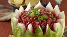 Watermelon salsa bowl at relish.com