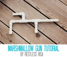 Marshmallow Gun Tutorial by We Love Being Moms