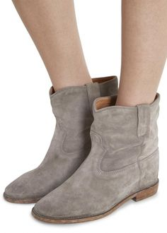 Crisi taupe suede ankle boots - Women