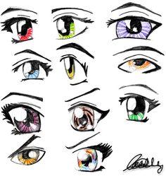 Anime Manga Drawings | Anime eyes by ~Cattyonines on deviantART