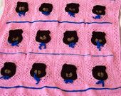 Crochet Sleepy Bear Afghan Childs Blanket