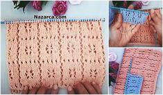 KOLAY ETAMİN ÖRNEKLERİ   Nazarca.com Tunisian Crochet, Baby Knitting Patterns, Doilies, Baby Dress, Crochet Baby, Quilts, Rugs, Model, Handmade