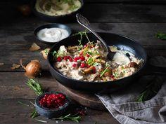 Klassisk finnbiff Paella, Bacon, Ethnic Recipes, Food, Essen, Meals, Yemek, Pork Belly, Eten