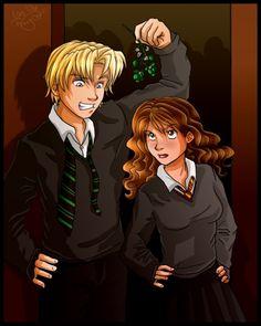 Lucky Day: Draco & Hermione Artwork by irishgirl982