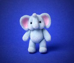 Miniature Toy Elephant for Your Dollhouse by DinkyWorld on Etsy