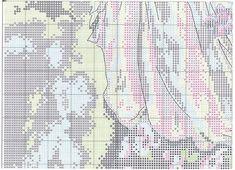 Схема вышивки Woman With Bouquet (Dimensions) 5 из 8