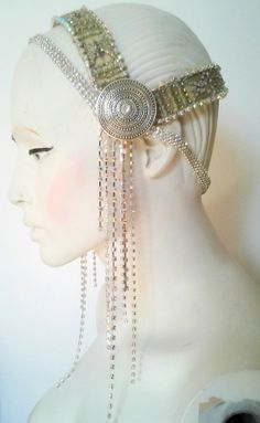 Simply sparkly - headpiece, headdress for tribal fusion bellydance, costume, carnival, ect on Etsy, $110.00