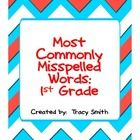 Help your struggling writers with a word wall of commonly misspelled words.    It includes 24 words first graders often misspell.    It also includ...