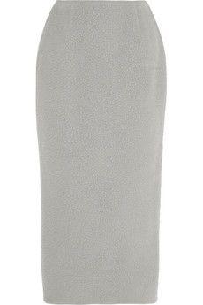 Rochas Pilled wool-blend midi skirt | NET-A-PORTER