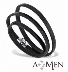 AMEN Bracelet - Our Father in Latin - Size M - Black